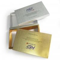 Hot Stamping for the logo Rigid Cosmetic Box Custom Boxes Printing Service, SGS-COC-007396 Manufactures