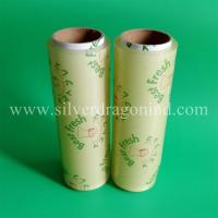 The cheapest PVC food cling film with custom logo printed Manufactures