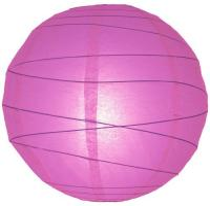 "Plain Colors Hanging Paper Lanterns 12"" - 16"" Pink Paper Lanterns Manufactures"