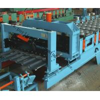 Glazed Roof Sheet Forming Machine Automatic Hydraulic Glazed Tile Roll Forming Machine / Roofing Tile Process Line Manufactures