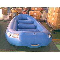 Multifunction portable blue PVC Inflatable Boat For 6 person water games Manufactures