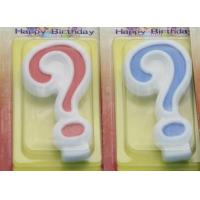 !Question Mark !White Egde Question Mark Shape Candles  with 2 Colors Filling-in