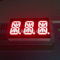 Triple Digit 14 Segment LED Display Common Cathode Red For Instrument Panel Manufactures