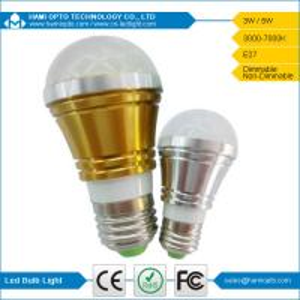 Energy Saving Eco-friendly E27 LED Bulb Light 3W 120 degree lighting angle milky cover Manufactures