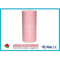 Wavy Printing Spunlace Non Woven Roll 65GSM Household & Vehicles Cleaning Wipes Manufactures