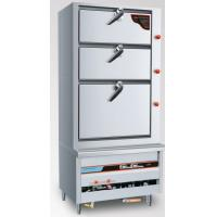 Self - Priming Gas Commercial Kitchen Steamers Three Doors #304 Stainless Steel Manufactures