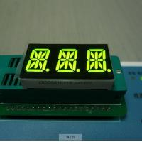 Super Amber Triple Digit 14 Segment LED Display Full Color 0.56 Inch For Digital Indicator Manufactures