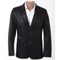 Western Plus Size, Two Side Pockets Excelled and Classic Young Mens PU Leather Blazers Manufactures