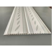 Quality Green Leaf Kitchen Wall Cladding Panels , Plastic Wall Liner Panels for sale