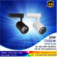 warm white 3000K 15 to 30W black & white LED track light for a 3-circuit with ce rohs Manufactures