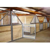 China 50mm Customized Horse Stable Equipment With Galvanized Steel Tube Stable on sale
