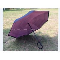 Manual Open Reverse Opening Umbrella , Double Layer Upside Down Umbrella