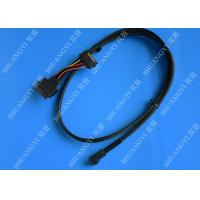 Quality SFF 8639 To SFF 8643 Serial Attached SCSI Cable , Black SAS 68 Pin SCSI Cable for sale