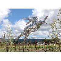 Outdoor Large Stainless Steel Rabbit Sculpture Designed By Artist Lawrence Argent Manufactures