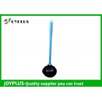 Durable Bathroom Cleaning Accessories Black Toilet Plunger With Plastic Handle Manufactures