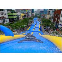 Large Inflatable Water Slides , PVC Tarpaulin Outdoor Inflatable Slideway For funny Manufactures