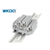 JSTTB 4 Spring Terminal Block Connector Grey Color High Grade Two Conductors Manufactures