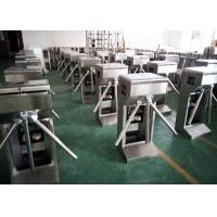 Stainless Steel Vertical Waist High Turnstiles , Revolving Tripod Turnstile Barriers Manufactures