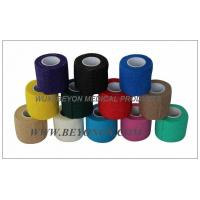 Medical Vet Cohesive Flexible Non Woven Bandage / Compression Bandage Knee Manufactures