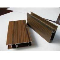 Wooden Grain Color Aluminum Door Profile for Slid Hung Door with Punching GB/T 5237 Manufactures