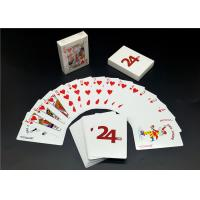 Custom Printing Barcode 4 Color Playing Cards , Linen Finishing High End Playing Cards Manufactures