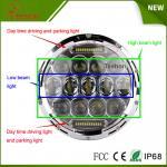 7 Inch 75w LED Car Headlight DRL 12v 24v Driving Light for Jeep Hummer Camaro Fj Manufactures