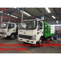 2018s new FAW brand 4*2 RHD yuchai 130hp diesel road sweeping and washing vehicles for sale, street washing sweeper Manufactures