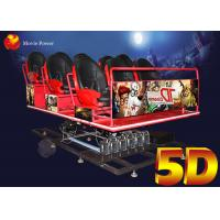 Wind Fog Smell Virtual Reality 5 D Movie Theater / 5D Sinema With 100pics Films Manufactures