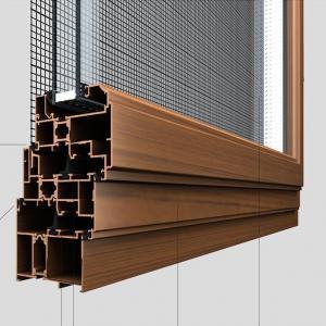 Australia Standard AS2047 Certified wood color Aluminum Wood Grain slide window and door Frame Manufactures