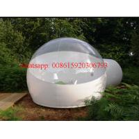 Half Clear Inflatable transparent plastic Bubble Tent Outdoor Inflatabe, bubble tree tent Manufactures