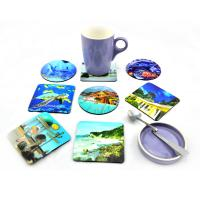 China Customized 3D Lenticular cup coaster with deep 3D effect on sale