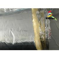 Air Conditioning Aluminium Fire Retardant Flexible Round Duct Insulation Wrap Lightweight Yellow Cotton Manufactures