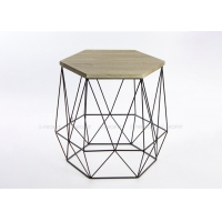 Hexagon Wire Width 40cm Height 42cm Metal Basket Coffee Table Manufactures