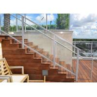 Buy cheap Easy Install Aluminum Glass Railing , Aluminum Building Railing White Color Deck from wholesalers
