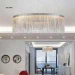Post modern Luxurious pendant lamp Creative Fringed Aluminum Chrome Chain Led hanging Light Living Room Restaurant Dinin Manufactures