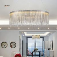 Post modern Luxurious pendant lamp Creative Fringed Aluminum Chrome Chain Led hanging Light Living Room Restaurant Dinin Manufactures
