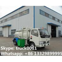 Quality 2017s hot sale Dongfeng 3,000L kitchen garbage truck, factory sale best price for sale