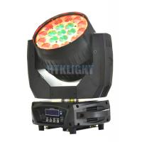 Die - Cast Alluminun And Plastic LED Moving Head Wash Light With 8 - 50 Degree Zoom Angle Manufactures