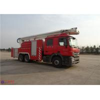 High Strength Telescopic Crane Fire Fighting Vehicles , Heavy Duty Fire Truck Leg Action Time ≤40s Manufactures