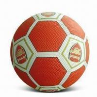 Rubber Soccer Ball in Perfect Outlook, OEM Orders are Welcome Manufactures