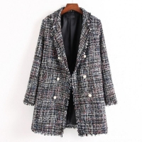 Buy cheap women long tweed shell coats jacket fashion dust coat from wholesalers