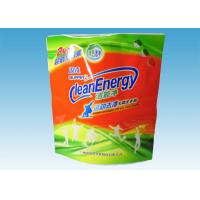 Custom Printed Stand Up Pouches , washing powder packaging bags With Three Handles Manufactures