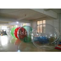 1.0mm TPU 2M Clear Inflatable Water Walking Balls With Pool EN15649 Approval Manufactures