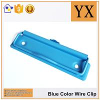 10 CM Blue Color Metal Wire Clips Clipboard Hardware With Metal Hanger Manufactures