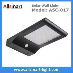 48 LED 850LM PIR Solar Sensor Wall Light With 4400mAh Li-ion Battery Black Lampshade For Road Garden Yard Illuminating Manufactures