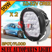 NEW 7 INCH 5W 90W CREE LED Driving Light Off Road tractor JEEP Truck work light spot flood Manufactures