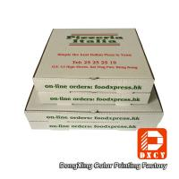 White Takeaway Pizza Packaging Boxes , Custom Logo Printing Innovative Foldable Pizza Box Manufactures