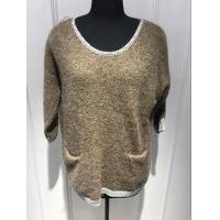 Plush Hand Feel Oversized Knit Sweaters Pullover With Wool Nylon Alpaca Material Manufactures