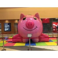 Cute Kids Inflatable Sports Games Inflatable Bounce House Pink Pig Shape 4 * 4m Manufactures
