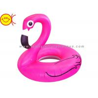 Foldable Flamingo Inflatable Water Floats With Logo / Banner Printing Manufactures